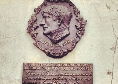 Plaque of General Del Riego in Tineo - Instagramed
