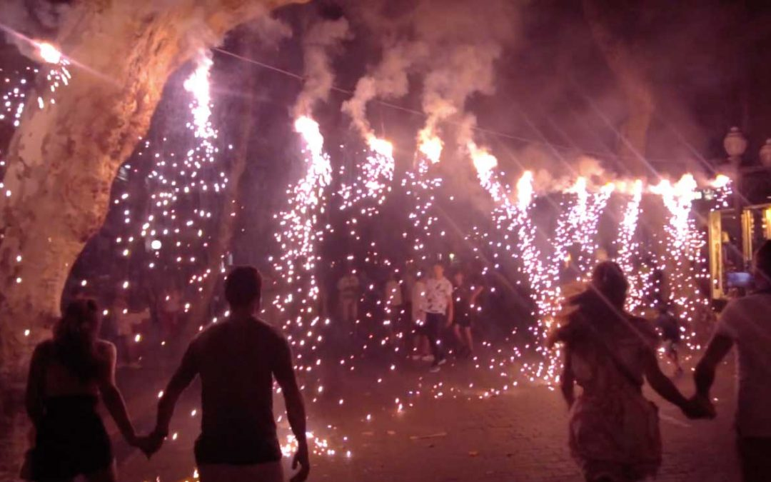 Our First Correfoc in Spain – Denia's Mesmerizing Fire Run Caught on Video