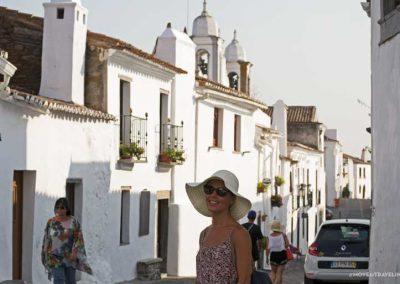 Amalia on the streets of Monsaraz