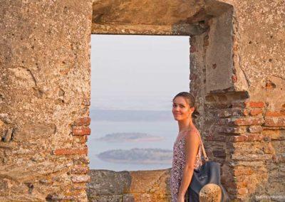 Amalia at the Castle of Monsaraz