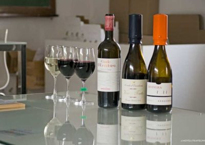 Tasting wines in Monsaraz