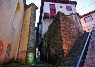 The walking paths alongside the church of Cudillero.