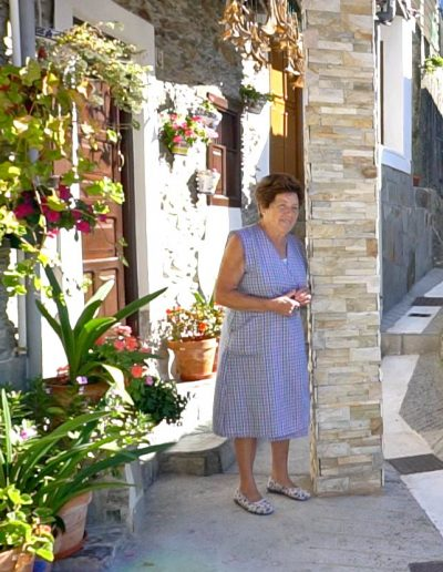 The dear local lady of Cudillero who we met.